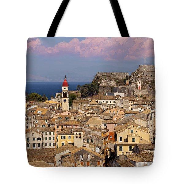 Corfu Town Tote Bag by Brian Jannsen