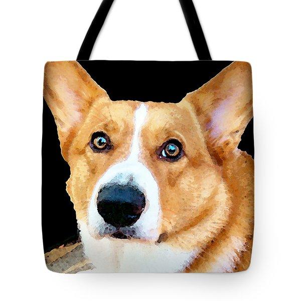 Corgi Art - Pensive  Tote Bag by Sharon Cummings