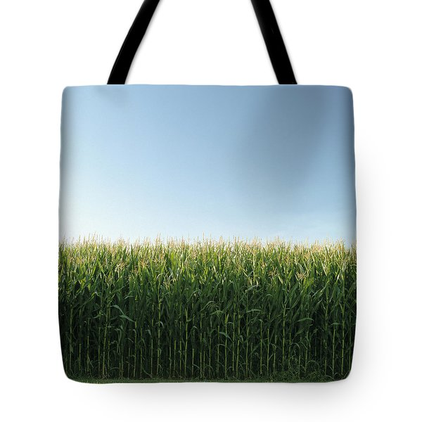 Corn Field And Sky, Abbotsford, British Tote Bag by Bert Klassen
