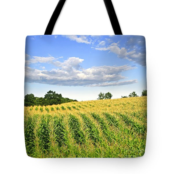 Corn field Tote Bag by Elena Elisseeva