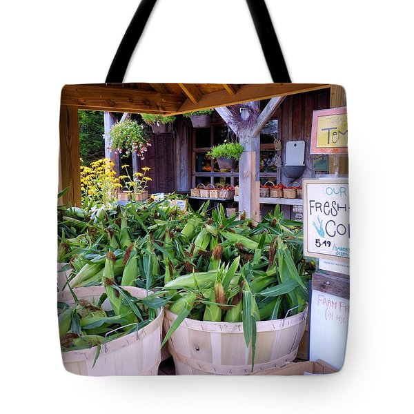 Corn Tote Bag by Janice Drew