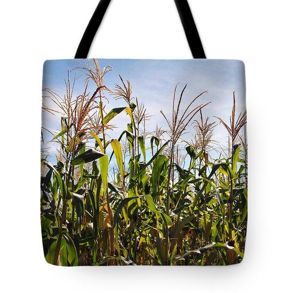 Corn Production Tote Bag by Carlos Caetano