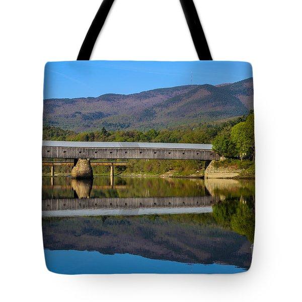 Cornish Windsor Covered Bridge Tote Bag by Edward Fielding