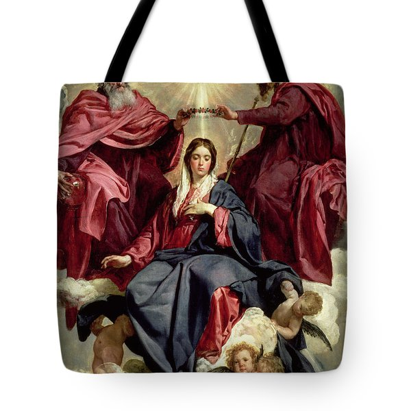 Coronation Of The Virgin Tote Bag by Diego Velazquez