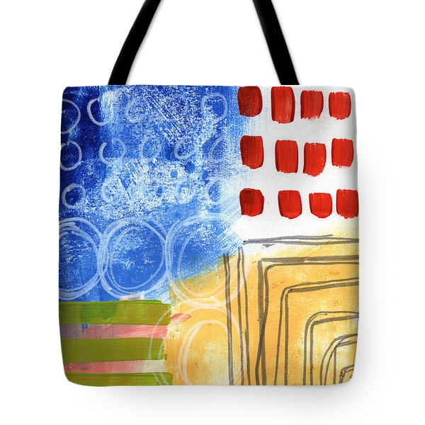 Corridor- Colorful Contemporary Abstract Painting Tote Bag by Linda Woods