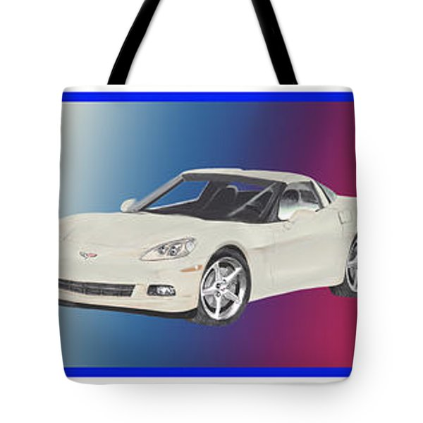 Corvettes In Red White And True Blue Tote Bag by Jack Pumphrey