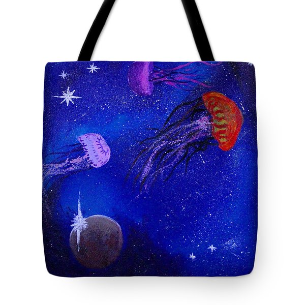Cosmic Jellyfish Tote Bag by Andy Lawless