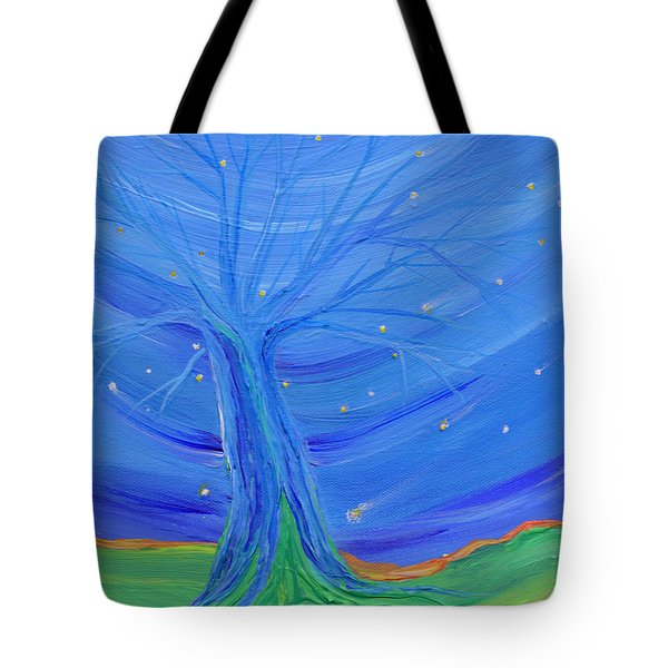 Cosmic Tree Tote Bag by First Star Art
