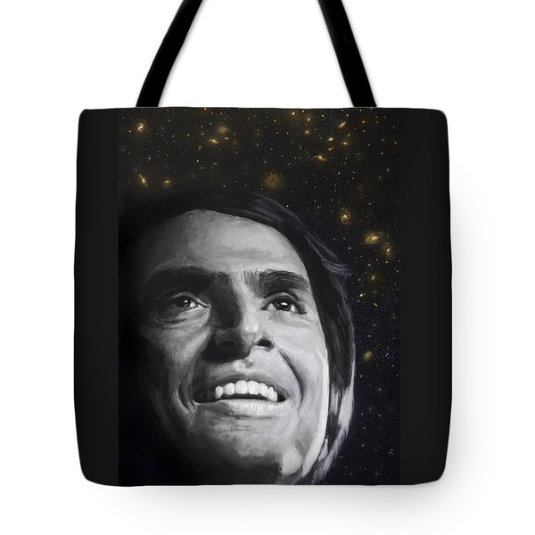 Cosmos- Carl Sagan Tote Bag by Simon Kregar