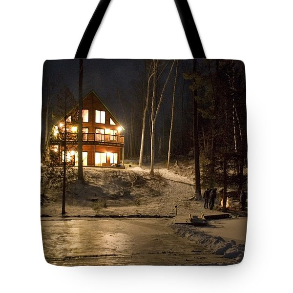 Cottage Country - Winter Tote Bag by Pat Speirs