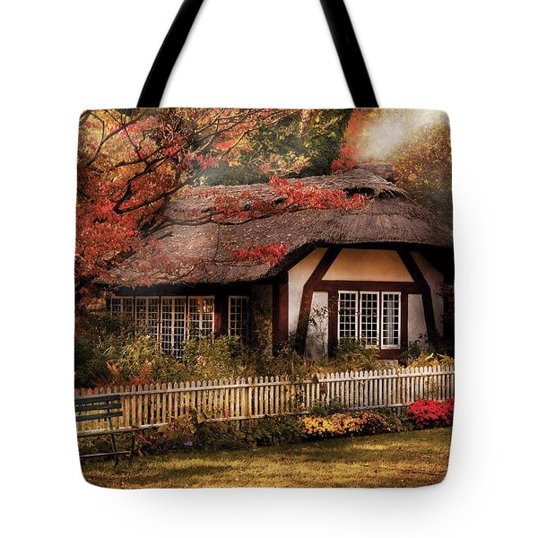 Cottage - Nana's House Tote Bag by Mike Savad