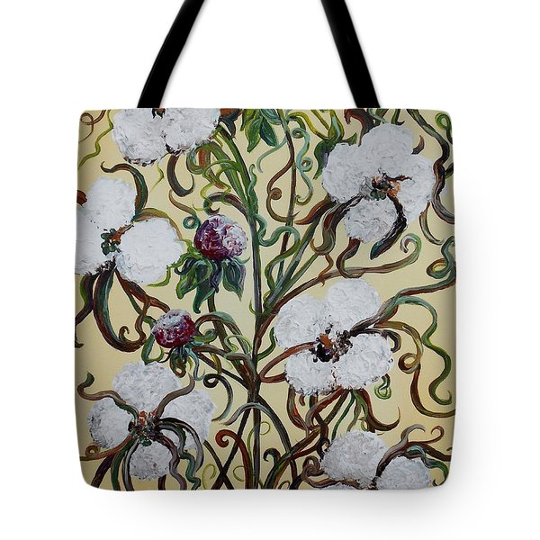 Cotton #1 - King Cotton Tote Bag by Eloise Schneider