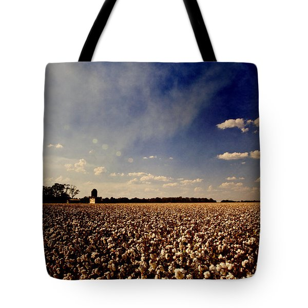Cotton Field Tote Bag by Scott Pellegrin