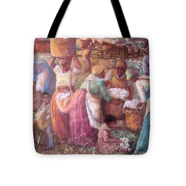 Cotton Fields Tote Bag by Pamela Mccabe