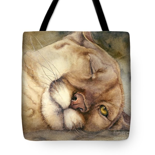 Cougar    I See You     Tote Bag by Bonnie Rinier