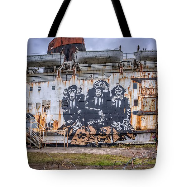 Council of Monkeys Tote Bag by Adrian Evans