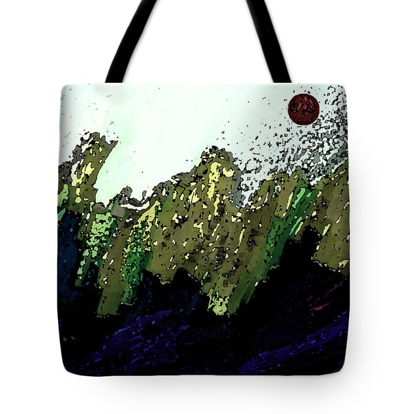 Country Abstract Tote Bag by Lenore Senior