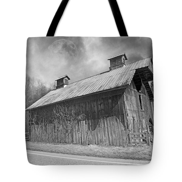 Country Barn Country Moon Country Tote Bag by Betsy A  Cutler