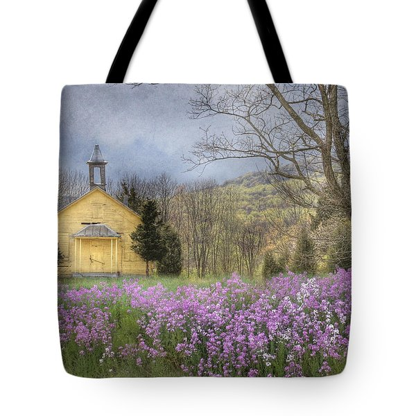Country Charm School Tote Bag by Lori Deiter