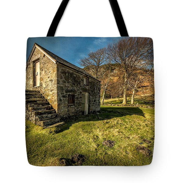 Country Cottage Tote Bag by Adrian Evans