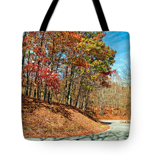 Country Curves And Vultures Tote Bag by Steve Harrington