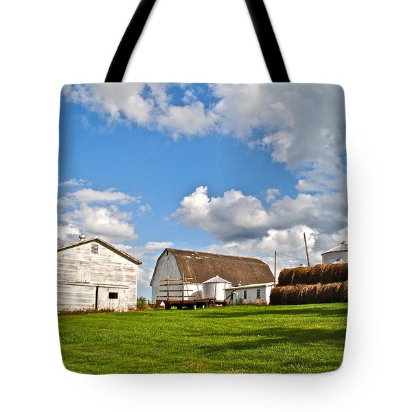 Country Farm Tote Bag by Frozen in Time Fine Art Photography