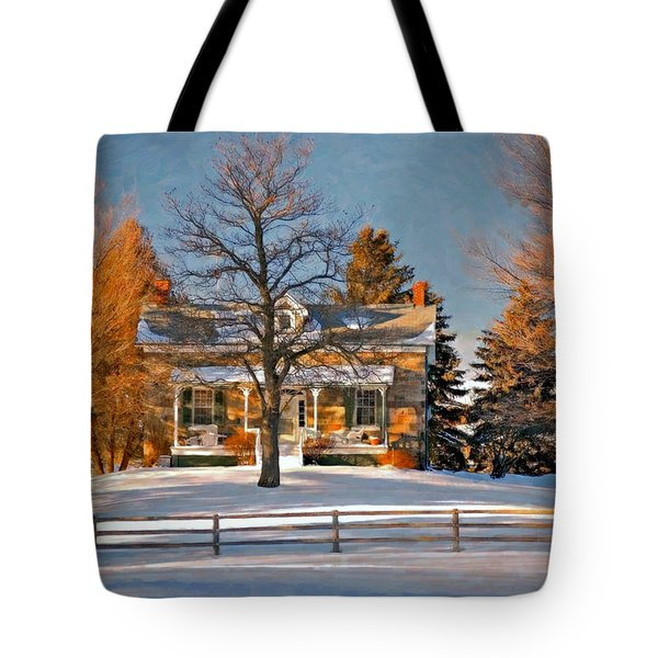 Country Home oil Tote Bag by Steve Harrington