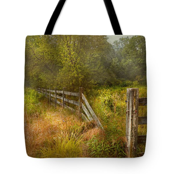 Country - Landscape - Lazy Meadows Tote Bag by Mike Savad