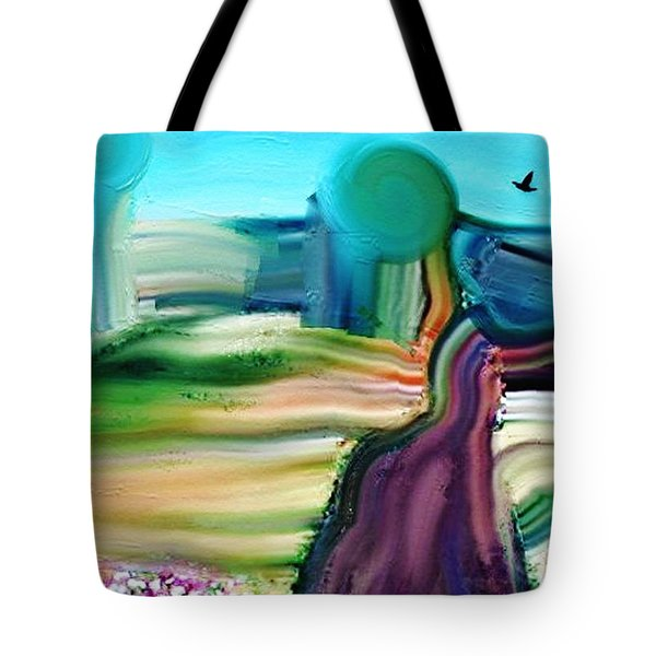 Country Lane Tote Bag by Lenore Senior