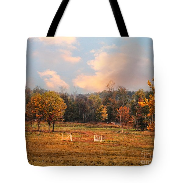 Country Morning Tote Bag by Jai Johnson