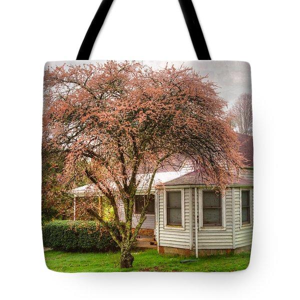 Country Pink Tote Bag by Debra and Dave Vanderlaan