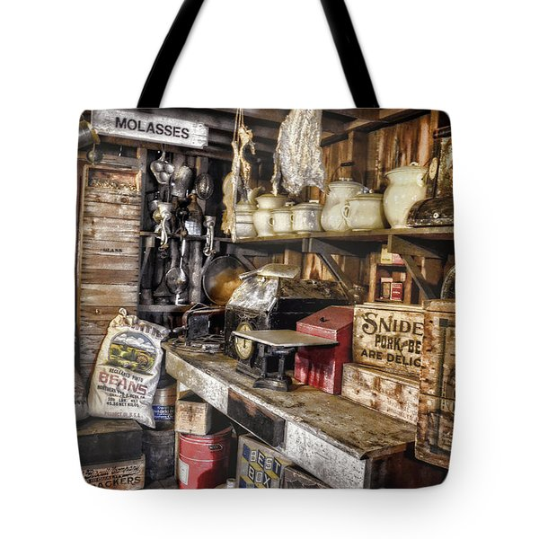 Country Store Supplies Tote Bag by Ken Smith