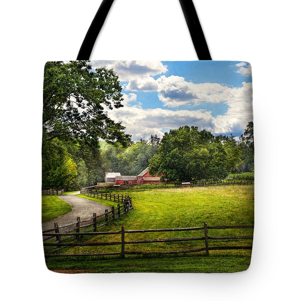 Country - The pasture  Tote Bag by Mike Savad