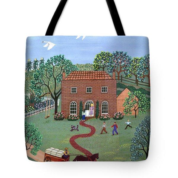 Country Visit Tote Bag by Linda Mears