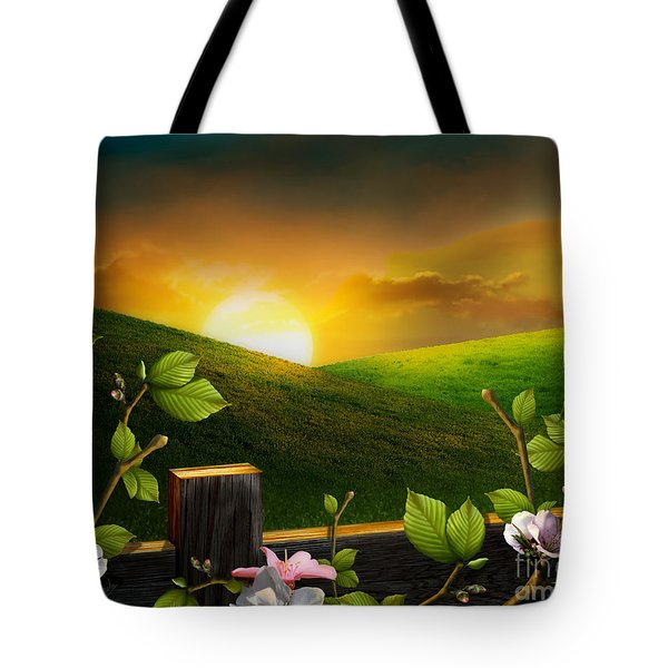 Countryside Sunset Tote Bag by Bedros Awak