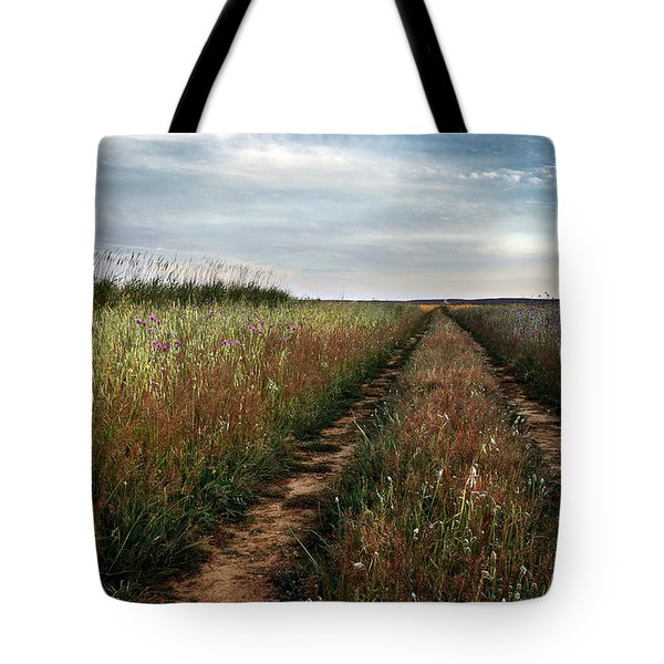 Countryside tracks Tote Bag by Carlos Caetano