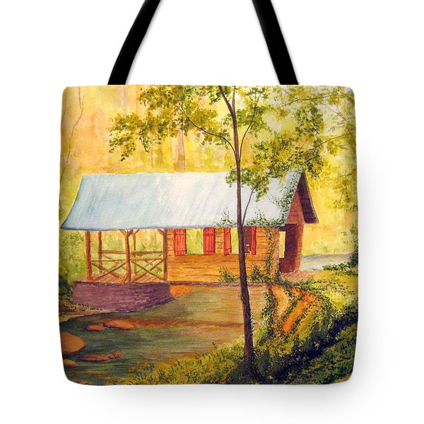 Covered Bridge Boone Nc Tote Bag by Julia Rietz