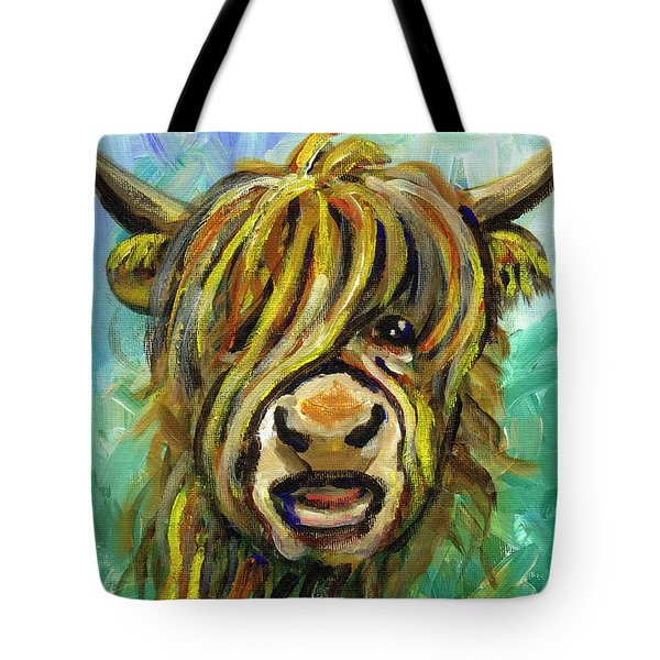 Cow Face 101 Tote Bag by Linda Mears