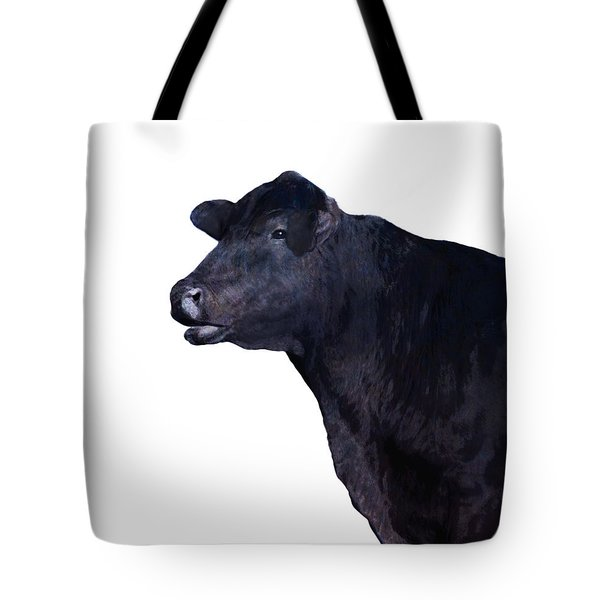 Cow On White Tote Bag by Ann Powell