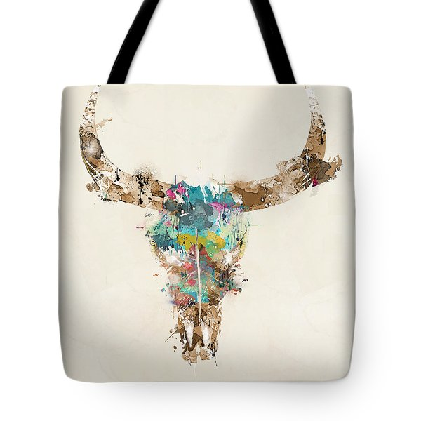 Cow Skull Tote Bag by Bri B