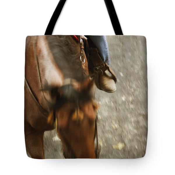 Cowboy Tote Bag by Margie Hurwich