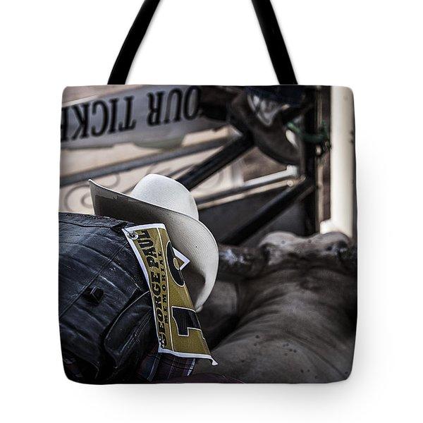 Cowboy Up Tote Bag by Amber Kresge