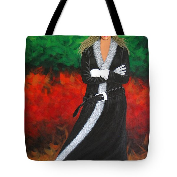 Cowgirl Tote Bag by Lance Headlee