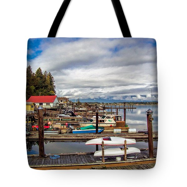 Cowichan Bay Vancouver Island Tote Bag by Lynn Bolt