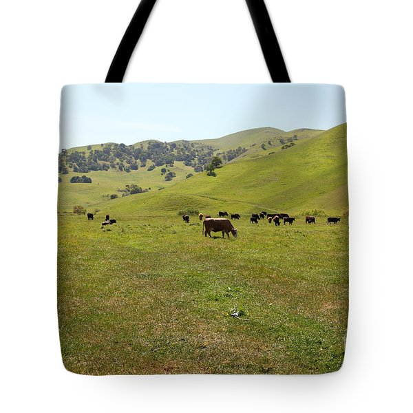 Cows Along The Rolling Hills Landscape of The Black Diamond Mines in Antioch California 5D22327 Tote Bag by Wingsdomain Art and Photography
