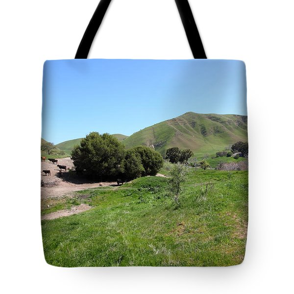 Cows Along The Rolling Landscapes of The Black Diamond Mines in Antioch California 5D22291 Tote Bag by Wingsdomain Art and Photography
