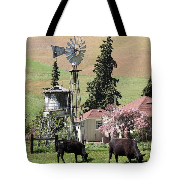 Cows Home On The Ranch At The Black Diamond Mines in Antioch California 5D22354 Tote Bag by Wingsdomain Art and Photography