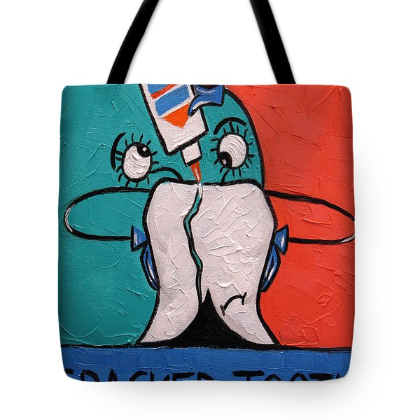 Cracked tooth Tote Bag by Anthony Falbo