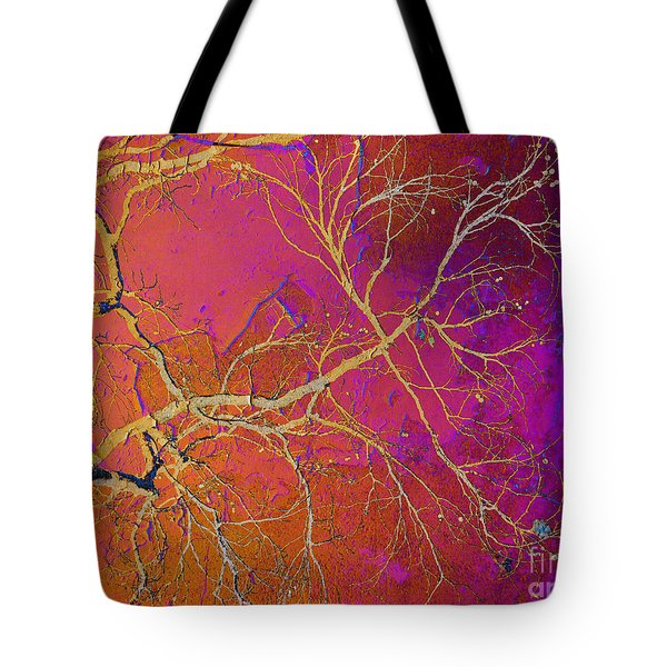 Crackling Branches Tote Bag by Meghan at FireBonnet Art