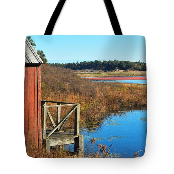 Cranberry Harvest  Tote Bag by Catherine Reusch  Daley